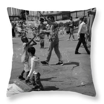 Burst Your Bubble Throw Pillow