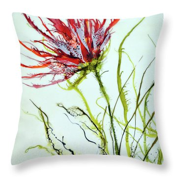 Bursting #2 Throw Pillow