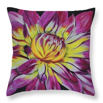 Bursting Bloom Throw Pillow