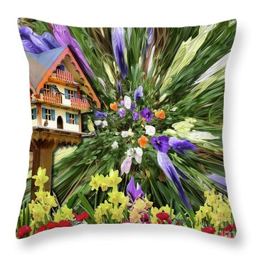 Bursting Forth Throw Pillow