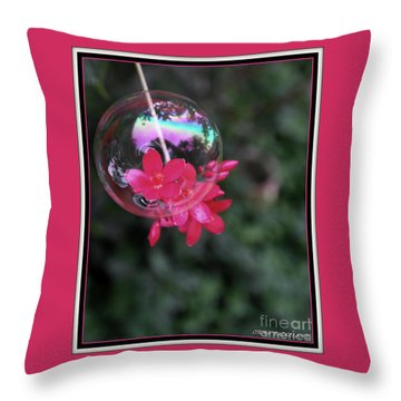 Throw Pillow featuring the photograph Bursting Free by Irma BACKELANT GALLERIES