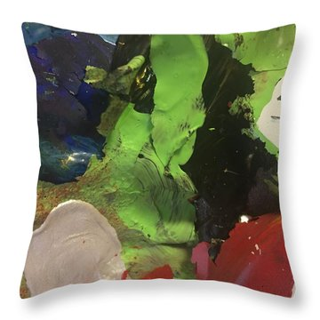 Throw Pillow featuring the photograph Bursting by Paula Brown