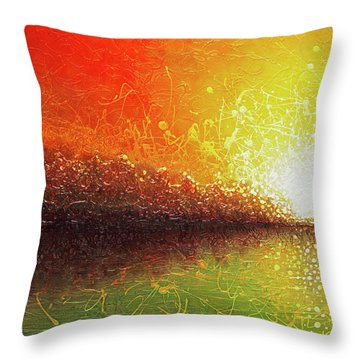 Bursting Sun Throw Pillow by Jaison Cianelli