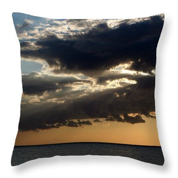 Bursting Through Throw Pillow by Laurie Search
