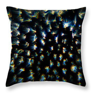 Throw Pillow featuring the photograph Bursts by Greg Collins
