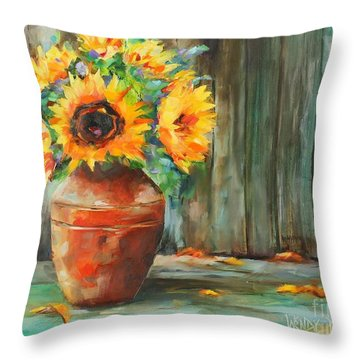 Bursts Of Sunshine Throw Pillow
