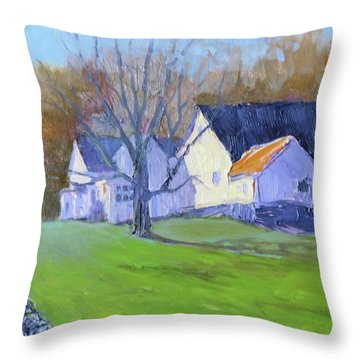 Burton Farm Throw Pillow