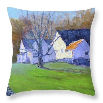 Burton Farm Throw Pillow