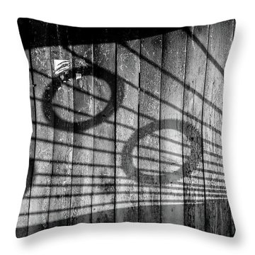 Bus Stop Shadows Soviet Style Throw Pillow