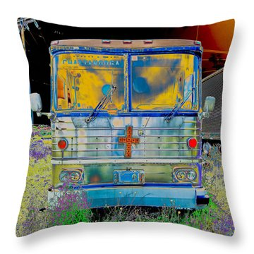 Bus To Chattanooga Throw Pillow by Julie Niemela
