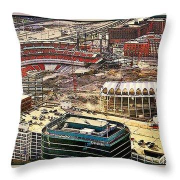 Busch Stadia Throw Pillow