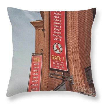 Busch Stadium - Cardinals Baseball Throw Pillow