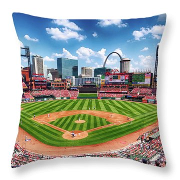 Busch Stadium Section 249 Throw Pillow