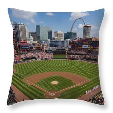 Busch Stadium T. Louis Cardinals Ball Park Village National Anthem #3a Throw Pillow
