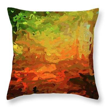 Bush Fire Throw Pillow