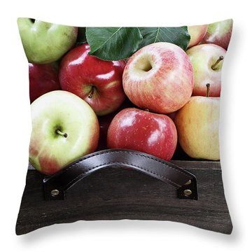 Throw Pillow featuring the photograph Bushel Of Apples  by Stephanie Frey