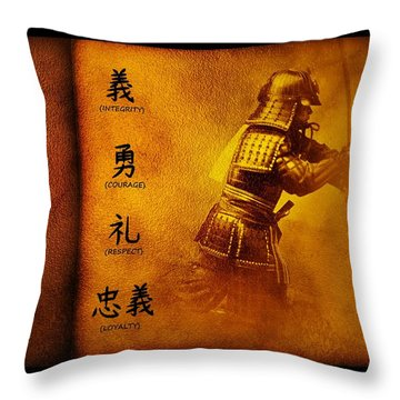 Bushido Way Of The Warrior Throw Pillow
