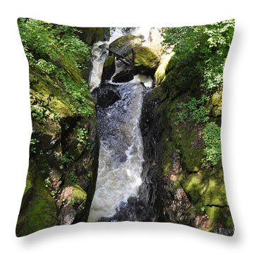 Bushkill Fall - Three Throw Pillow