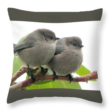 Bushtits Throw Pillow