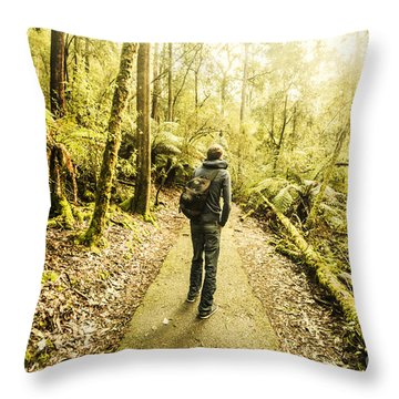Throw Pillow featuring the photograph Bushwalking Tasmania by Jorgo Photography - Wall Art Gallery