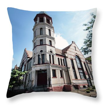 Bushwick Avenue Central Methodist Episcopal Church Throw Pillow