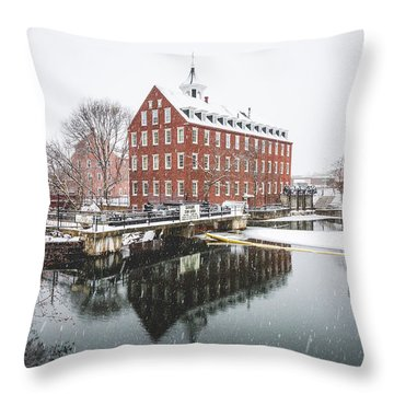 Throw Pillow featuring the photograph Busiel-seeburg Mill by Robert Clifford