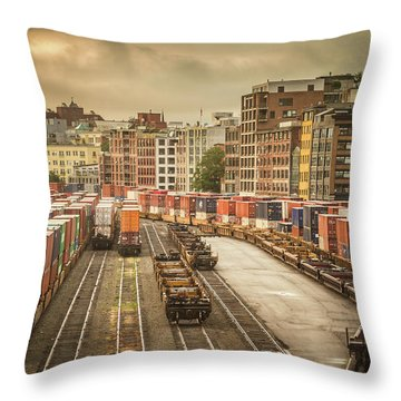Busines End Of The City... Throw Pillow