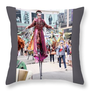 Busker Fest Toronto August 2014 Throw Pillow