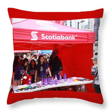 Busker Fest Toronto August 2104 Throw Pillow