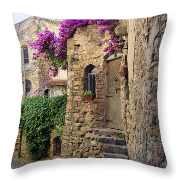Bussana Vecchia Street Throw Pillow