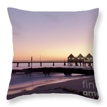 Throw Pillow featuring the photograph Busselton Jetty Sunrise by Ivy Ho