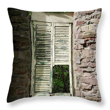 Throw Pillow featuring the photograph Busted Shutter In The Shaddows  by Bill Cannon