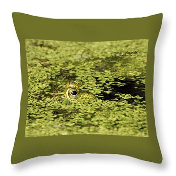 Buster In Camo Throw Pillow