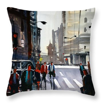 Busy City - Chicago Throw Pillow by Ryan Radke