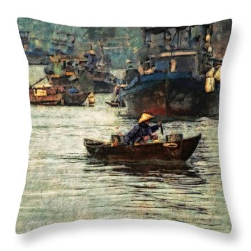 Busy Hoi Ahn Dawn Throw Pillow by Cameron Wood