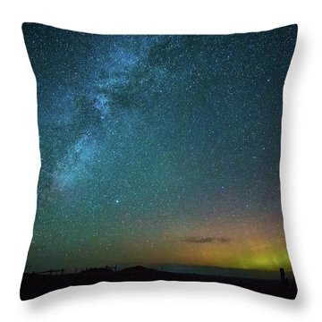 Busy Night Throw Pillow