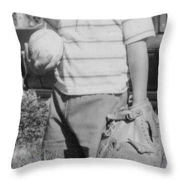 But I Wanna Play Catch Some More. Throw Pillow