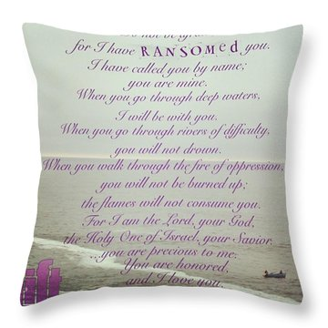 But Now, O Jacob, Listen To The Lord Throw Pillow