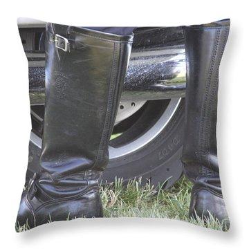But Officer... Throw Pillow by Lauri Novak
