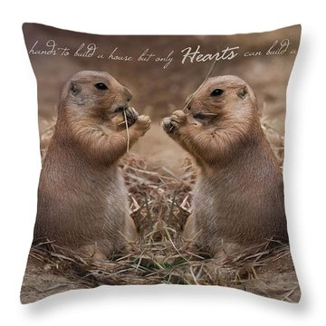 Throw Pillow featuring the photograph But Only Hearts by Robin-Lee Vieira