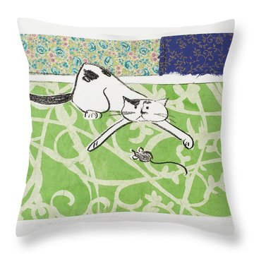 But We Were Just Starting To Have Fun Throw Pillow by Leela Payne