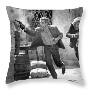 Butch Cassidy And The Sundance Kid - Newman And Redford Throw Pillow