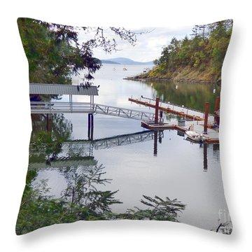 Butchart Bay Throw Pillow