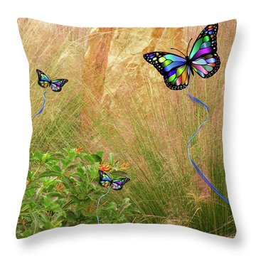 Buterflies Dream Throw Pillow
