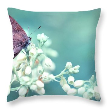 Throw Pillow featuring the photograph Buterfly Dreamin' by Mark Fuller