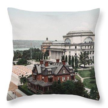 Butler Library At Columbia University Throw Pillow
