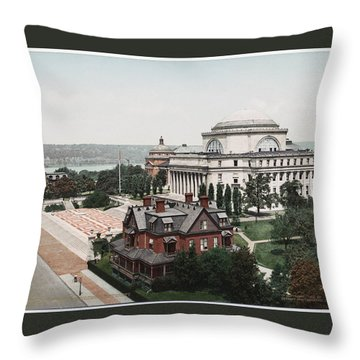 Butler Library At Columbia University Throw Pillow