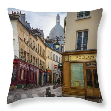 Butte De Montmartre Throw Pillow by Inge Johnsson