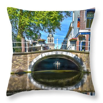 Butter Bridge Delft Throw Pillow