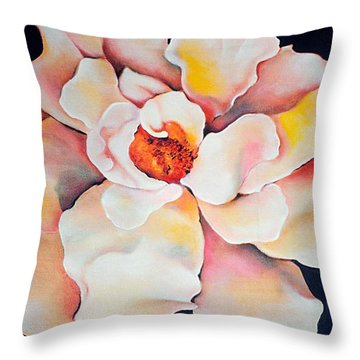 Butter Flower Throw Pillow